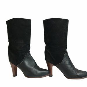 Vtg. Zodiac Leather Suede Calf Boots
